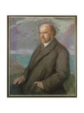 Portrait of Pio Baroja (1872-1956) Giclee Print by Juan de Echevarria y Zuricaldav