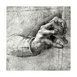 Study of a Hand Giclee Print by  Leonardo da Vinci