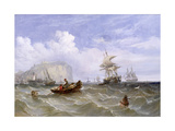 Pilot Boats Off Dover, c.1847 Giclee Print by William Adolphus Knell