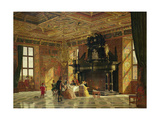 Interior of the Knight's Hall, Palace of Fredericksborg, Near Copenhagen Giclee Print by Heinrich Hansen
