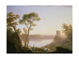 Lake Albano with Castel Gandolfo, 1787 Giclee Print by Jacob More