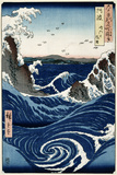 Awa Province: Stormy Sea at the Naruto Rapids from 'Famous Places of the Sixty Provinces', 1853 Giclee Print by Ando Hiroshige