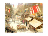 Illfracombe, Procession Giclee Print by Albert Goodwin