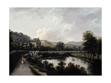 The Royal Crescent, Bath from the Avon Giclee Print by Joseph Farington