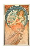 The Arts: Painting, 1898 Giclée-tryk af Alphonse Mucha
