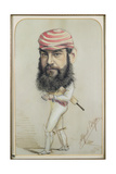 W.G. Grace, c.1874 Giclee Print by Alfred Gish Bryan