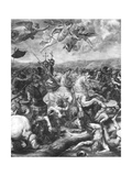 The Battle of Constantine, 312 Ad, from the Sala Di Costantino, Raphael Rooms (Detail) Giclee Print by Giulio Romano