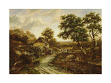 Overshot Flint Mill in Landscape with Fall of Water, 1831 Giclee Print by Patrick Nasmyth