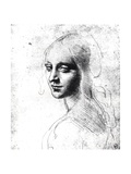 Study for an Angel in the Virgin of the Rocks Giclee Print by  Leonardo da Vinci