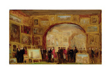 An Exhibition of Old Masters at the British Institution Giclee Print by Sir David Wilkie