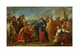The Centurion Kneeling at the Feet of Christ Or, Jesus Healing the Son of an Officer, 1752 Giclee Print by Joseph-marie, The Elder Vien