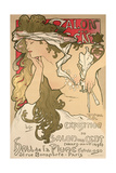 Poster Advertising the Salon Des Cent Exposition at the Hall De La Plume, 1896 Giclee Print by Alphonse Mucha