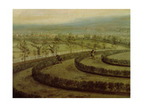 View of Knowsley Park from the Riding Hill Summer House, Looking Towards Prescot Giclee Print by Peter Tillemans