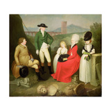 Group Portrait of Aubrey, 2nd Baron Vere of Harmsworth and Family Giclee Print by Franciszek Smuglewicz