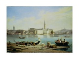 A View of Riddarholmen on Lake Malaven with the Ridarhuset and the Riddarholms Church Beyond Giclee Print by Martinus Rorbye