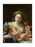 The Virgin and Child with a Rose Giclée-Druck von Simon Vouet