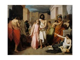 Oedipus and Antigone or the Plague of Thebes Giclee Print by Charles Francois Jalabert