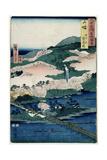 Togetsu Bridge and Mount Arashiyama, Yamashiro Province from 'Famous Places of the Sixty… Giclee Print by Ando Hiroshige