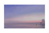 Moon over Varanasi Giclee Print by Derek Hare