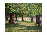 Kensington Round Pond, 1986 Giclee Print by Liz Wright
