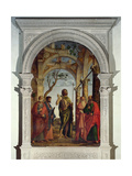 St. John the Baptist and Saints, 1493 Giclee Print by Giovanni Battista Cima Da Conegliano