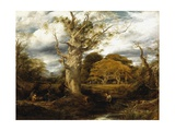 A Wood Scene, 1844 Giclee Print by John Linnell