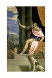 Saul Throwing the Lance at the Head of David Giclee Print by Francesco De Rossi Salviati Cecchino