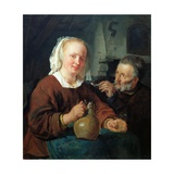 A Man and a Woman at Wine Giclee Print by Gabriel Metsu
