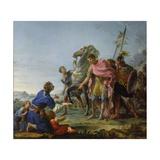 Trajan (53-117) Showing Mercy, 1765 Giclee Print by Noel Halle