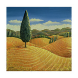 Cypress Tree and Cornfields, 1990 Giclee Print by Liz Wright