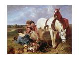 Barney, Leave the Girls Alone, 1850 Giclee Print by John Frederick Herring Snr