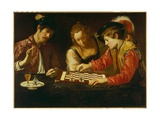 The Chess Players Giclee Print by  Caravaggio