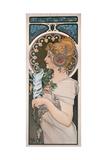 Feather, 1899 Giclée-tryk af Alphonse Mucha