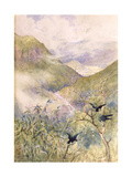 Looking over the Lilies: The Valley of Nikko Looking Eastwards Giclee Print by Sir Alfred East