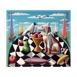 Sea Dog Giclee Print by P.J. Crook