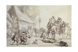 Outside the Inn Giclee Print by Thomas Rowlandson