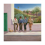 Lanzarote Lads, Canary Islands, 1990 Giclee Print by Liz Wright