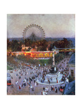 The Admiral Tegetthoff Monument at the Praterstern with the Ferris Wheel, Vienna Giclee Print by Heinrich Tomec