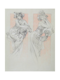 Study for Plate 12 from 'Documents Decoratifs', 1902 Giclee Print by Alphonse Mucha