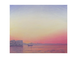 Sunset at Lake Palace, Udaipur Giclee Print by Derek Hare