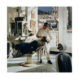 Barber Shop, 1994 Giclee Print by Max Ferguson