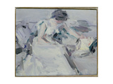Lady in a White Dress Giclee Print by Samuel John Peploe
