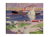 The Dunara Castle at Iona Giclee Print by Francis Campbell Boileau Cadell
