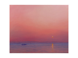 Pink Dawn on the Ganges Giclee Print by Derek Hare