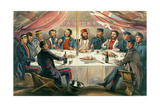 A Christmas Dinner on the Heights before Sebastopol, Engraved by J.A. Vinter, Pub. 1855 Giclee Print by William 'Crimea' Simpson