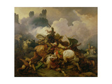 Battle Between Richard I Lionheart (1157-99) and Saladin (1137-93) in Palestine Giclee Print by Philip James De Loutherbourg