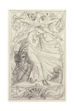 Preparatory Drawing for a Calendar, c.1890 Giclee Print by Walter Crane