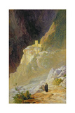 Mount Athos, the Monastery of St. Paul, 1858 Giclee Print by Edward Lear