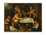 The Satyr and the Peasant Giclee Print by Antonio Diziani