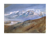 View from My Window at Mornex Where I Stayed a Year, 1862 Giclee Print by John Ruskin